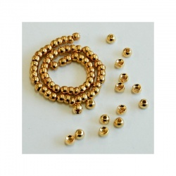 Slotted Tungsten Beads, Gold