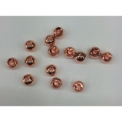 Counter Sunk Brass Beads, Copper