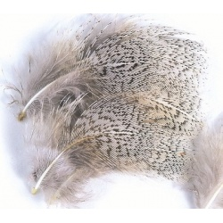 English Partridge Grey Neck Hackles Natural 1g pack