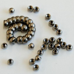 Counter Sunk Tungsten Beads, Natural