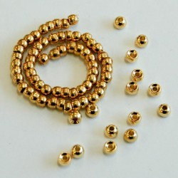 Counter Sunk Tungsten Beads, Gold